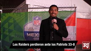 Nación Vegas: Los Raiders perdieron ante los Patriots 33-8