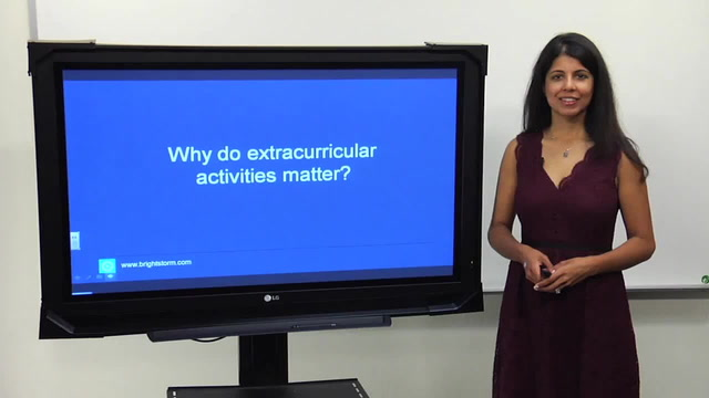Why do extracurricular activities matter?