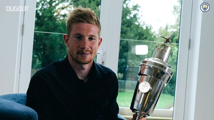 Kevin De Bruyne reacts to winning PFA Player of the Year award