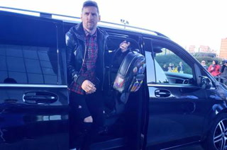 Messi llega a Madrid para atender la convocatoria de Argentina para la fecha FIFA de Marzo