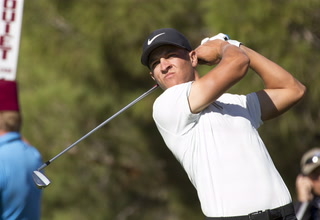Shriners Open contender Cameron Champ talks about his Saturday round