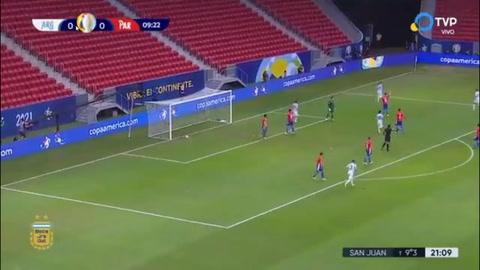 Papu Gómez anota el 1-0 de Argentina ante Paraguay (Copa América)