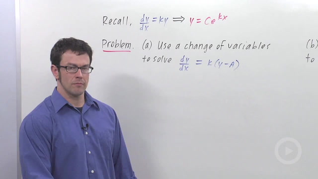 The Differential Equation Model for Exponential Growth - Problem 2
