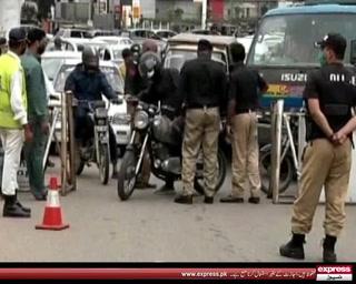 کراچی میں لاک ڈاؤن کا آغاز