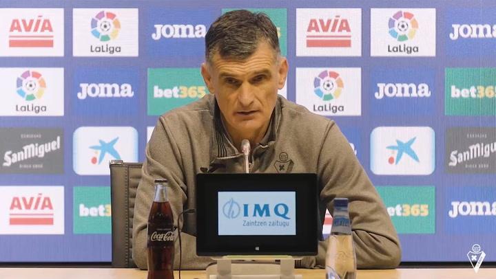 Rueda de prensa de Mendilibar previa al Barcelona - Eibar 2020/21