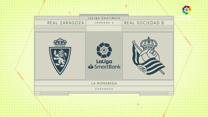 LaLiga SmartBank (J6): Resumen y goles del Zaragoza 1- 1 Real Sociedad B