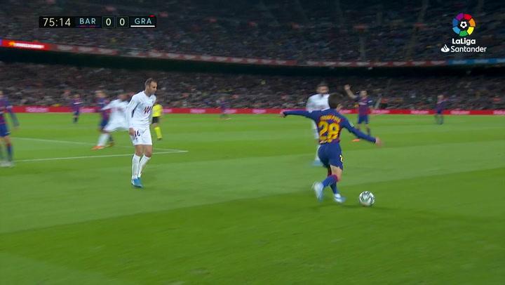 Gol de Messi (1-0) en el Barcelona 1-0 Granada