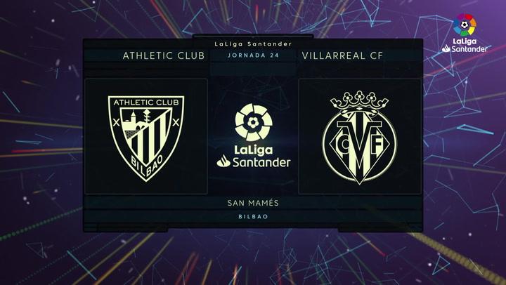LaLiga (J24): Resumen y goles del Athletic 1-1 Villarreal