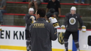 Rocky Thompson talks first VGK rookie practice