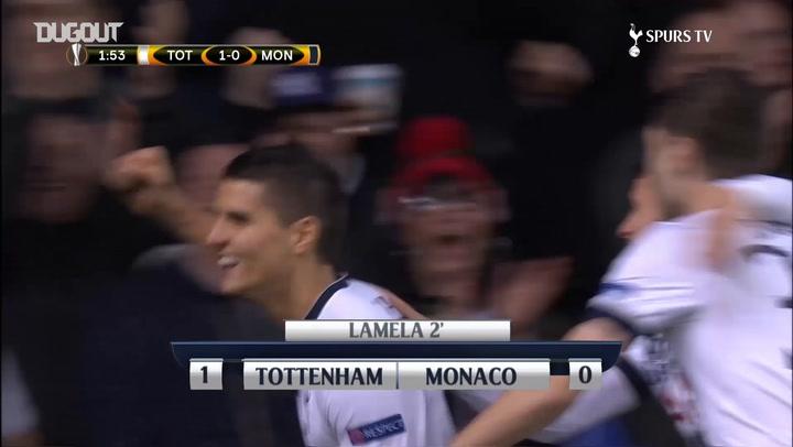 Erik Lamela puts three past AS Monaco