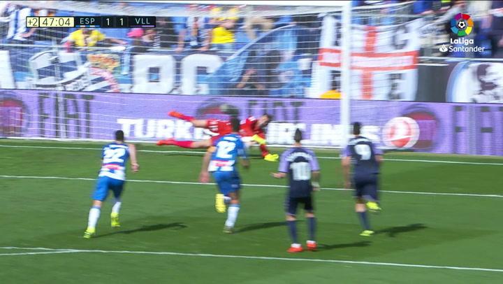 LaLiga: Espanyol - Valladolid. Penalti parado de Diego López a Sergi Guardiola