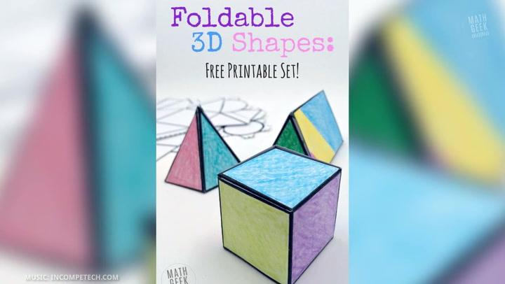 Foldable 3D Shapes Video
