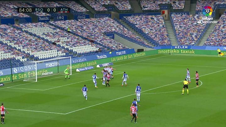Gol de Villalibre (0-1) en el Real Sociedad 1-1 Athletic