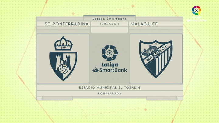 LaLiga SmartBank (J6): Resumen y goles Ponferradina 4-0 Málaga
