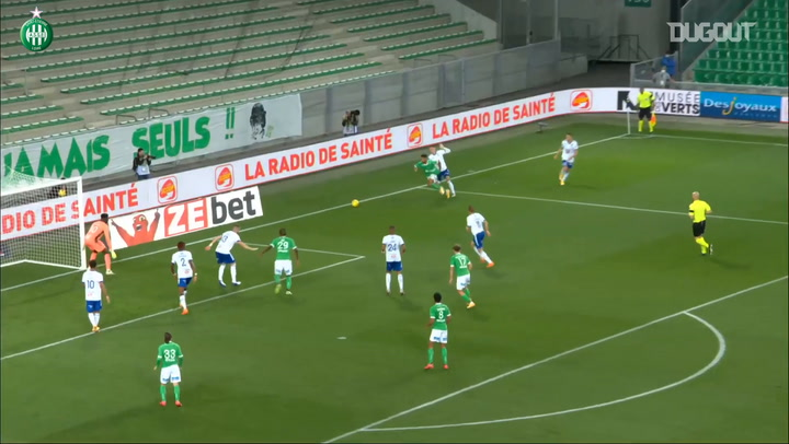 Camara's first Ligue 1 goal with Saint-Etienne