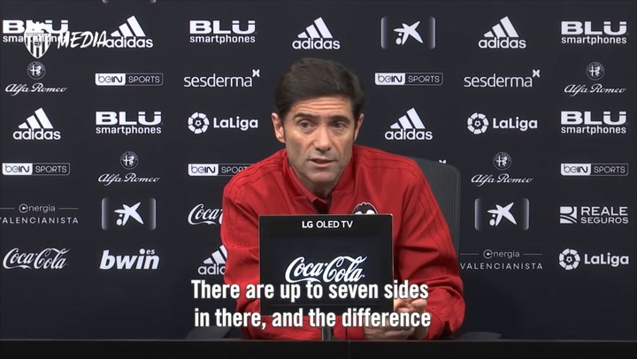 Rueda de prensa de Marcelino  (Valencia) previa al partido contra el Rayo
