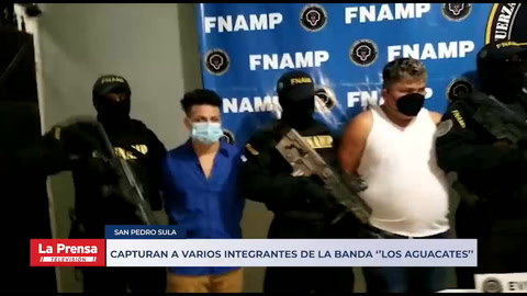Capturan a varios integrantes de la banda