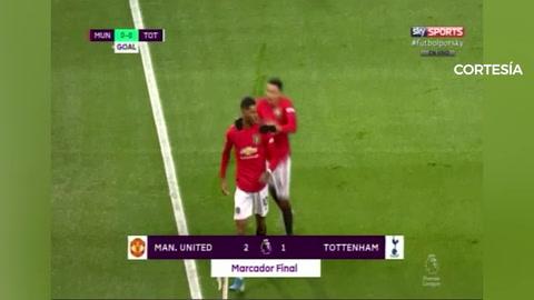 El del Manchester United 2-1 Tottenham (Premier League)