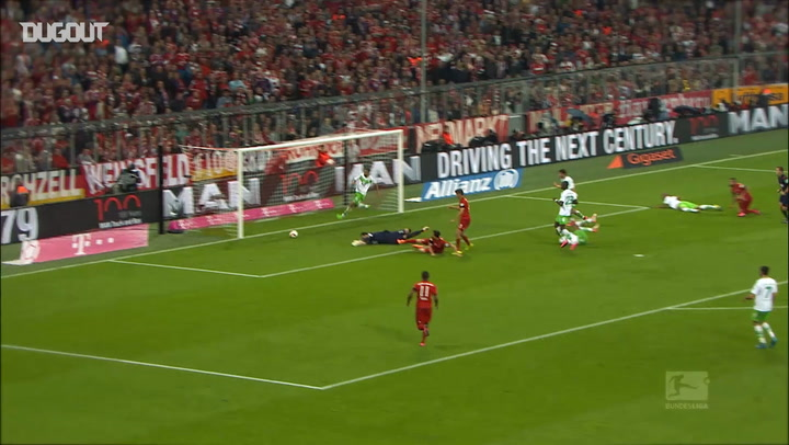 Lewandowski's Incredible Five Goals Vs Wolfsburg