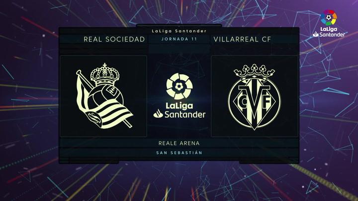 LaLiga Santander (J11): Resumen y goles del Real Sociedad 1-1 Villarreal
