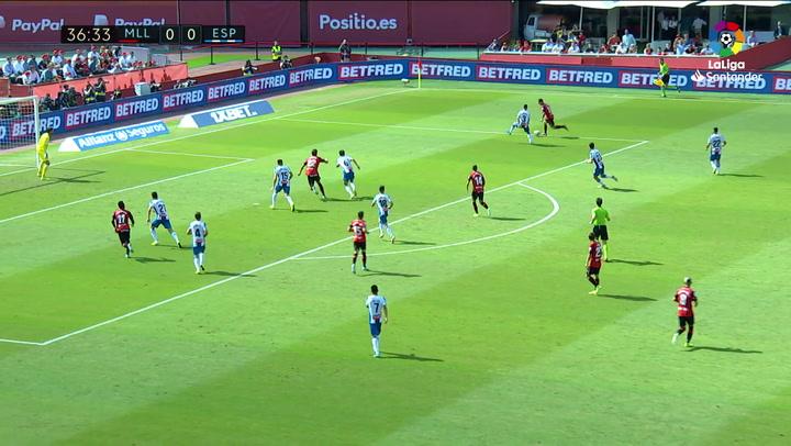 Gol de Budimir (1-0) en el Mallorca 2-0 Espanyol