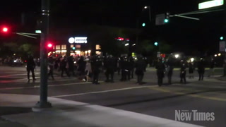 Protesters Clash With Police, July 8 2016