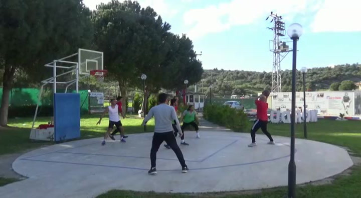 Manager Hüseyin Eroğlu Playing Hoops