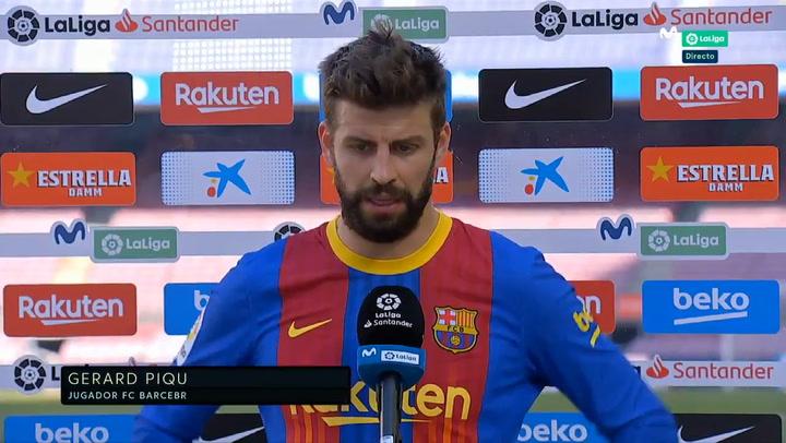 """Piqué: """"Esperábamos ganar, pero seguimos vivos"""""""