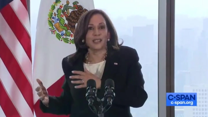 Kamala Harris calls GOP 'shortsighted' for criticism over migration comments