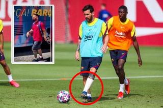 ¡Alarma total en Barcelona! Lionel Messi llegó cojeando a Lisboa antes de enfrentar al Bayern Múnich