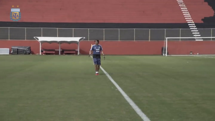 Último entrenamiento de Argentina previo al debut en la Copa América