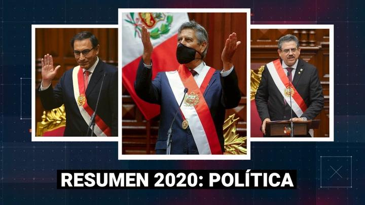 Resumen 2020: Los sucesos más importantes que marcaron el año político del Perú