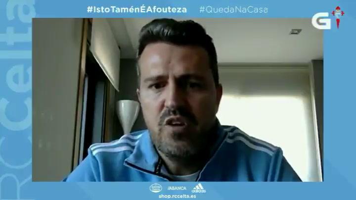 Óscar García y el Celta, pendientes de los jugadores extranjeros que se han quedado fuera de su país por la cuarentena