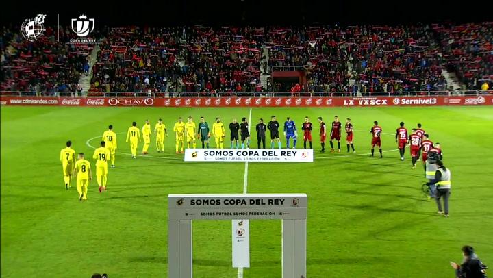 Resumen del Mirandés - Villarreal (4-2) de Cuartos de la Copa