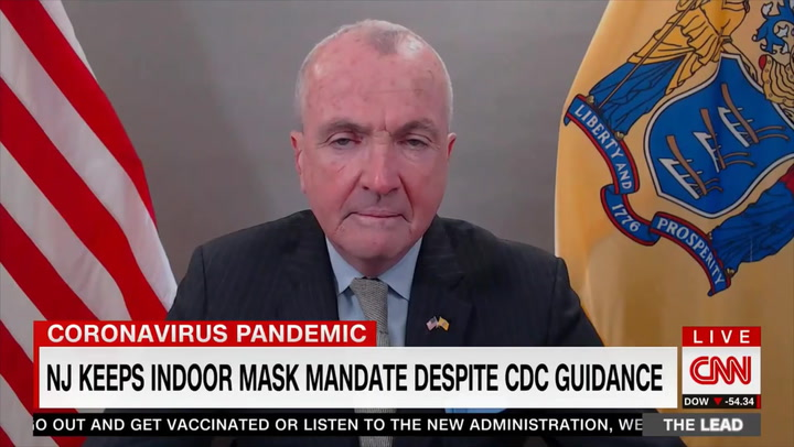 NJ Gov. Murphy on Keeping Mask Mandate: We're Not 'Necessarily Against' CDC Rules, 'We're Just Not Ready'