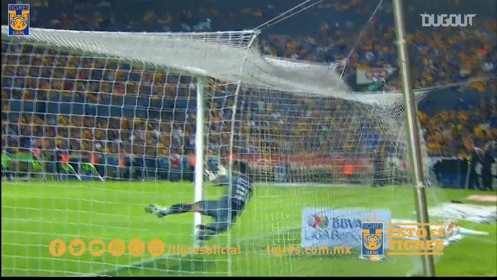 El golazo de falta de Lucas Zelarayán con Tigres