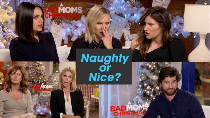 "'A Bad Moms Christmas' Cast Plays ""Naughty or Nice?"""