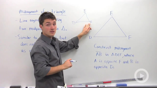 Constructing a Triangle Midsegment - Problem 1