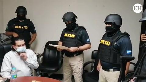 Detienen a Marco Bográn mientras brindaba declaraciones en la Atic