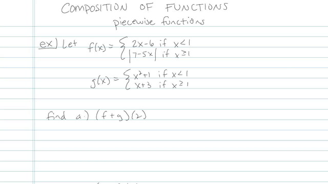 Composition of Functions - Problem 4