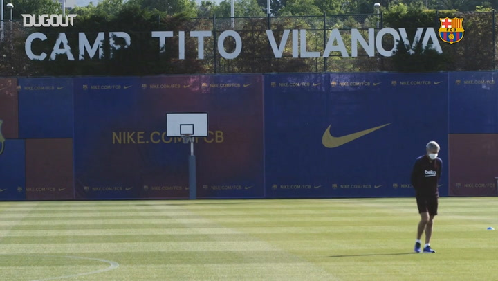 FC Barcelona are back in training