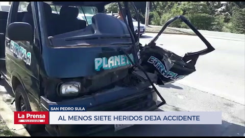 Al menos siete heridos deja accidente en la salida a La Lima