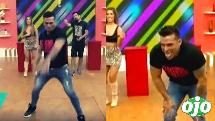 "Christian Domínguez revive frenética coreografía del ""Tic Tic Tac"", pero se cansa a los pocos segundos"
