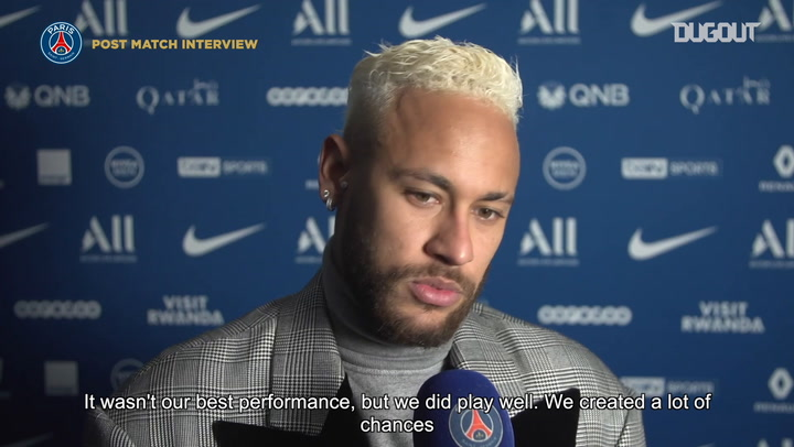 Neymar reacts to Paris Saint-Germain draw vs Monaco