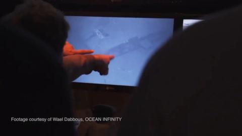 El momento en que los tripulantes encuentran el ARA San Juan
