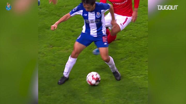Shoya Nakajima's quick feet vs CD Santa Clara