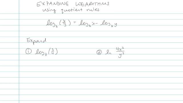 Expanding Logarithms - Problem 5