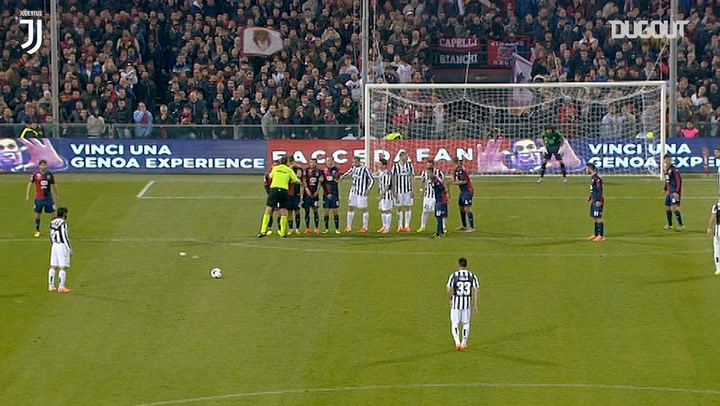 Andrea Pirlo nets last-minute free-kick vs Genoa