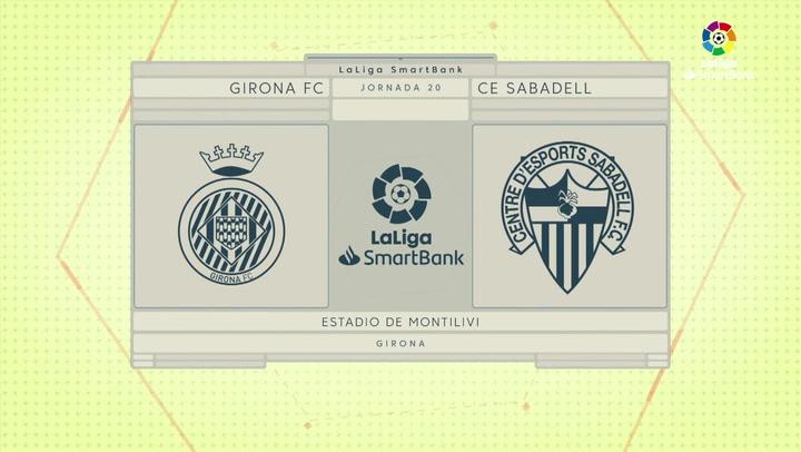 LaLiga SmartBank (J20): Resumen del Girona 0-0 Sabadell