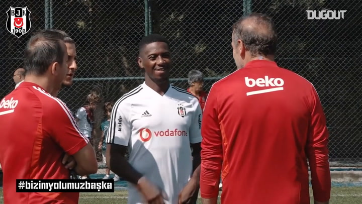 Abdoulay Diaby's First Besiktas Training Session